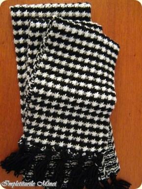 "Fular tricotat ""Hipnotic"""