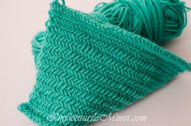 """Modelul de tricotat """"Șiră de pește""""   Împletiturile Minei"""