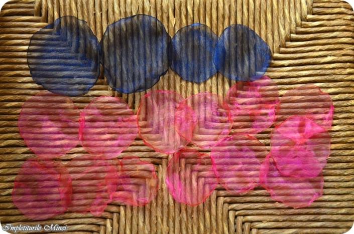 """Floare din material textil organza: """"Floare de mac"""""""