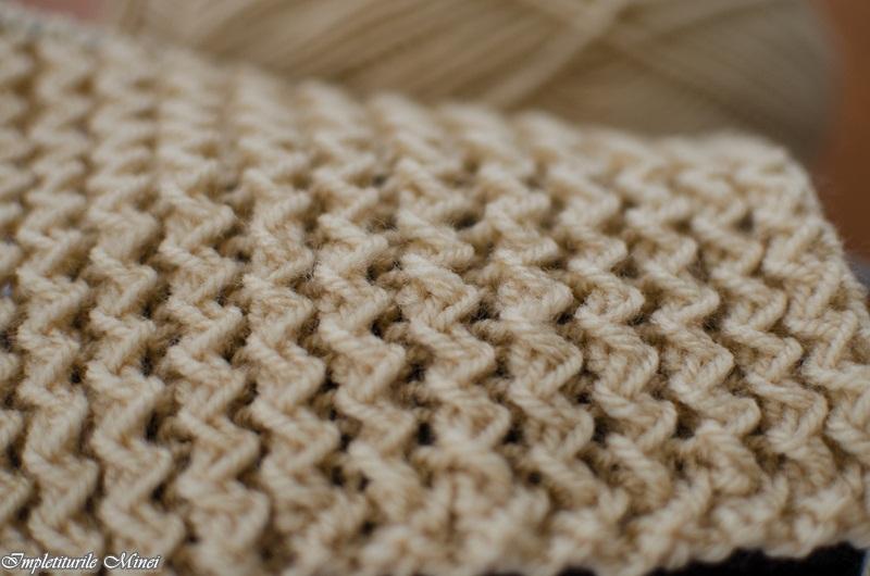 "Modelul de tricotat ""Zig-Zag"""
