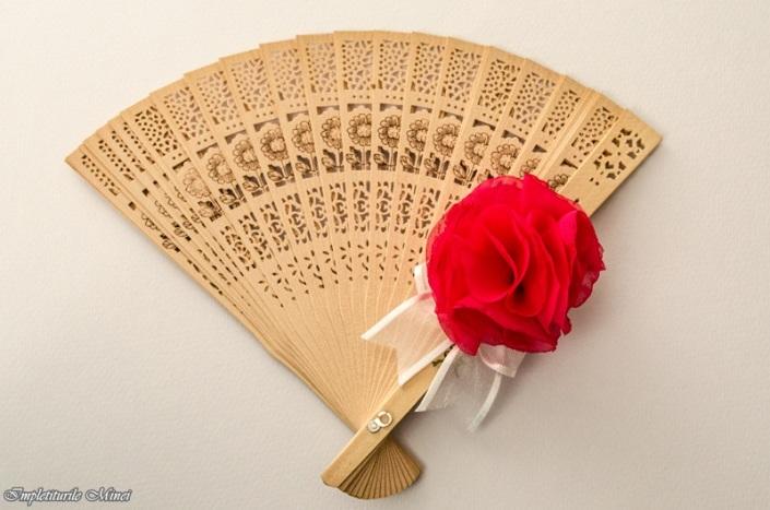 """Floare din material textil """"Bujor"""""""