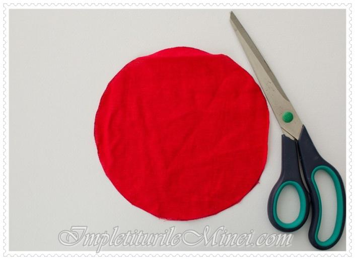Trandafir din material textil - Pasul 1