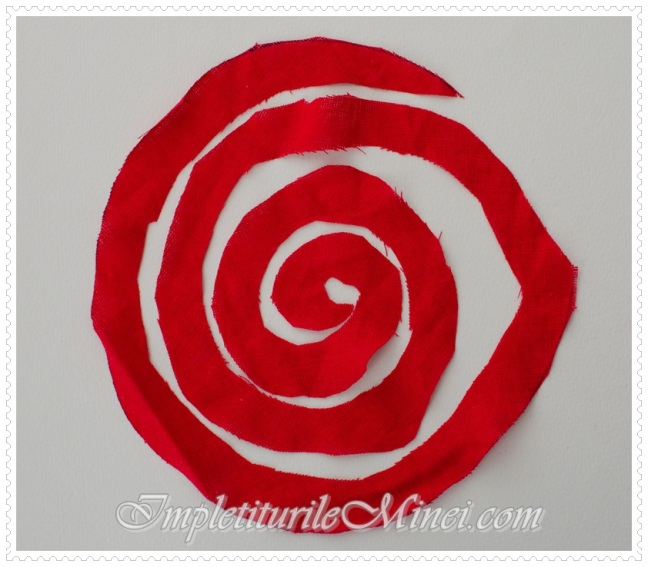Trandafir din material textil - Pasul 2