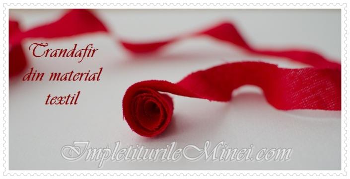 Trandafir din material textil - Pasul 3
