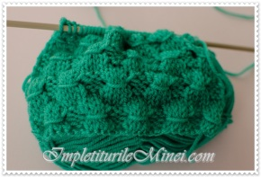 """Modelul de tricotat """"Mănunchiuri degrâu"""""""