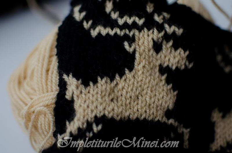 """Modelul pentru tricotat """"Reni"""""""