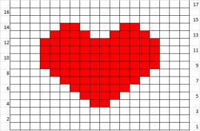 """Modelul de tricotat """"Inimi"""""""