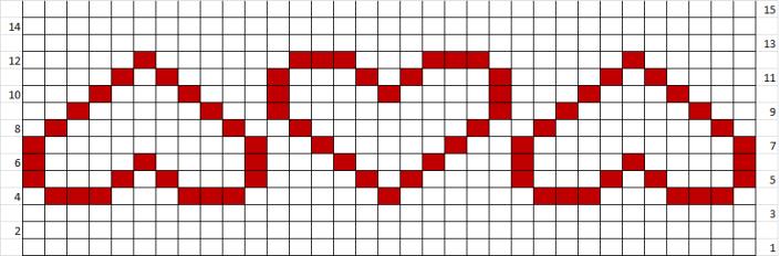 Modelul de tricotat Inimi